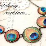 Jewel tone peacock drop earrings, p..