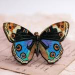 Blue butterfly ring, butterfly jewe..