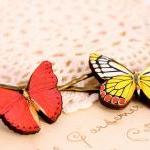 Butterfly hair clips, butterfly hai..